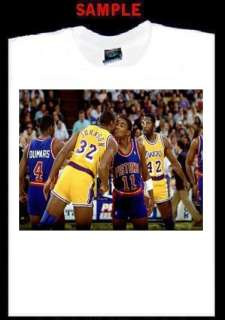 MAGIC JOHNSON ISIAH THOMAS CUSTOM PHOTO T SHIRT TEE 983