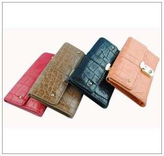 New Ladies Women Fashion Genuine leather Clutch Bifold Wallet Purse