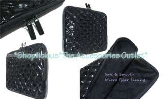 for SAMSUNG GALAXY TAB 7/8.9/10.1 TABLET BLK QUILTED PATENT LEATHER