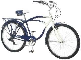 """Schwinn 26"""" Men's Lakeshore Cruiser Bike Bicycle   Cream and Blue"""