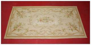 5X46 Small Aubusson Area Rug SUBTLE FRENCH Faded Antique Colors