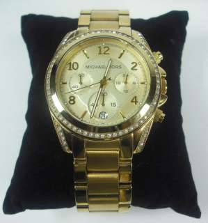 NEW Michael Kors MK5166 WOMENS Gold Tone Chronograph Ladies Watch