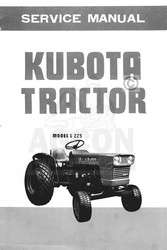 Kubota Model L 225 L225 Tractor Shop Service Manual