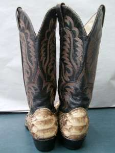 MENS SNAKESKIN COWBOY WESTERN BOOTS SIZE 8.5 D