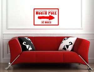 NORTH POLE 22 MILES CHRISTMAS DECORATION Vinyl decal