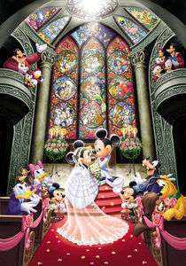 Japan Jigsaw Puzzle Tenyo Disney Mickey Wedding #521