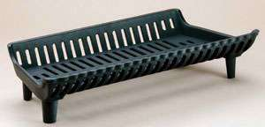 Heavy duty one piece cast iron grate is uniformly cast for durability