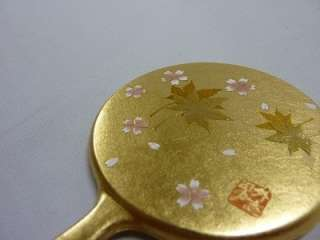 JAPANESE KANAZAWA GOLD LEAF/MINI HAND MIRROR HANAKASUMI