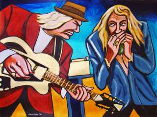 BAND OF JOY PAINTING robert plant buddy miller guitar