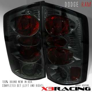 2002 2006 DODGE RAM PICKUP SMOKE REAR TAIL LIGHTS LAMPS