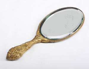 Chinese Enamel and Gilt Bronze/Metal Hand Mirror