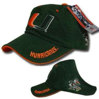 NCAA MIAMI HURRICANES CANE OPEN BACK GIRL WOMEN HAT CAP