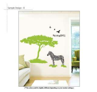 BIG TREE & ZEBRA SERENGETI Home Decor Art Wall Sticker Removable Vinyl