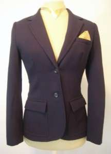 Sexy/Powerful Womens Vintage Navy Blue Wool Tailored Pant Suit