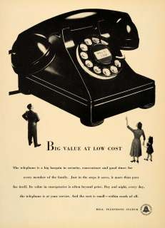 1950 Ad Rotary Phone Bell Telephone System Call Calling   ORIGINAL