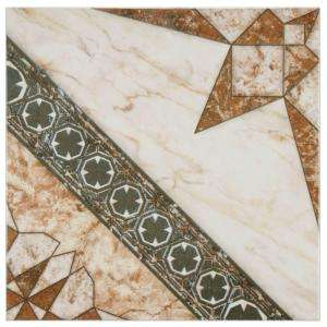 Merola Tile Augustine 12 1/2 in. x 12 1/2 in. Marron Ceramic Floor and