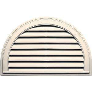 Builders Edge 22 in. x 34 in. Half Round Gable Vent #021 Sandstone