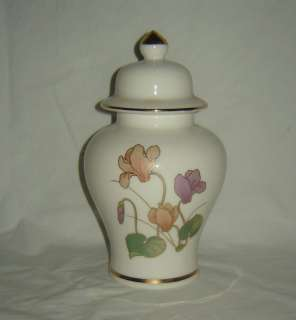 Fine China from Japan Ginger Jar with Floral Gold Trim
