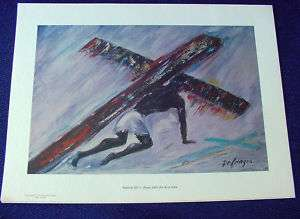 1964 DeGrazia Way Cross Station 3 Print Jesus Falls