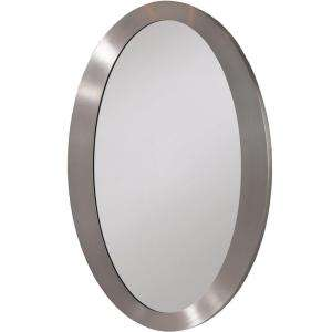Erias Home Designs 27 In. X 18 In. Framed Wall Mirror in Nickel 202408