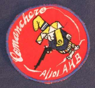 101st Airborne Comanchero Attack Helicopter Gunship Patch * c.1970