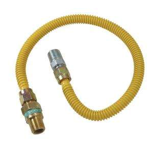 ProCoat Coated Stainless Steel Gas Appliance Connector with EFV Valve