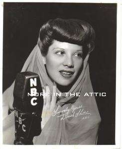 GORGEOUS YOUNG DINAH SHORE ORIG NBC RADIO PORTRAIT STILL