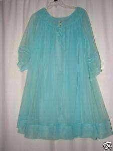 Vintage Worth Nightgown Robe Peignoir Set