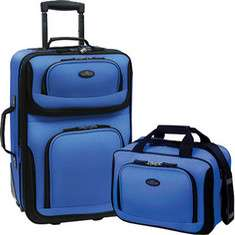 US Traveler Rio 2 Piece Expandable Luggage Set
