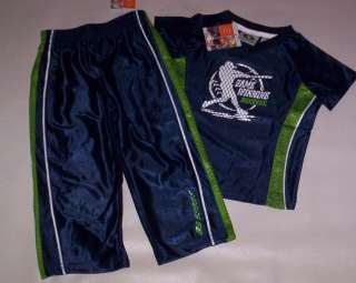 New Boys Size 24 Months Athletic Works Blue and Green Baseball Pants