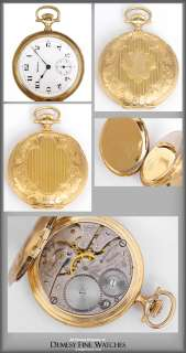 Hampden 14k Solid Gold Hunting Case Pocket Watch ca. early 1900s