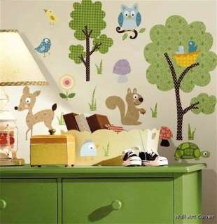 Woodland Animals BABY KIDS Wall Sticker Nursery Decor