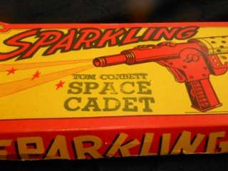 VERY RARE TOM CORBETT SPACE GUN BY MARX WITH ORIGINAL BOX MINTY TOY