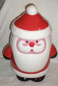 CHRISTMAS BOSTON WAREHOUSE SANTAS BAKESHOP CERAMIC COOKIE TREAT JAR