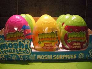 MOSHI MONSTERS Surprise EGG Super Bright Moshling Figures Ultra RARE