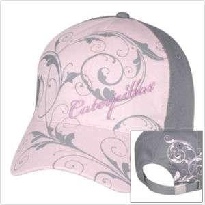 NEW LADIES CAT PINK AND GRAY CAP HAT VISOR NWT