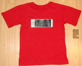 New NWT NIKE JORDAN Boys Bar code Sneaker Red Short Sleeve Shirt L 16