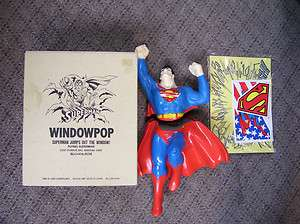 ACTION FIGURE WINDOWPOP SUPERMAN JUMPS OUT THE WINDOW NEW IN BOX 1989