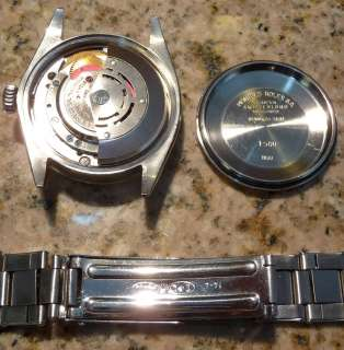 ROLEX OYSTER PERPETUAL DATE SS 1968 BLACK DIALED MENS WATCH ALL ORIG