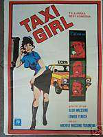 TAXI GIRL EDWIGE FENECH YUGOSLAVIAN MOVIE POSTER 1977
