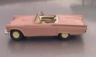 vintage 1957 ford thunderbird pink convertible amt promo model