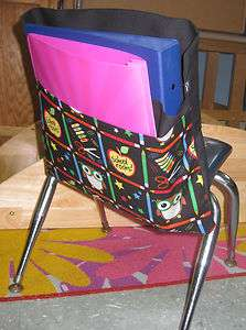 Pocket Seat Desk Sack *SCHOOL ROCKS* 2 POCKETS ORGANIZE FOR Classroom