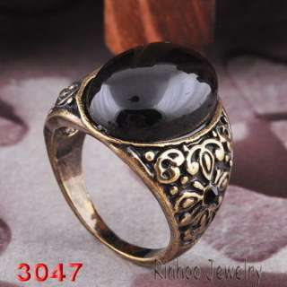 H30157 black noblest #10 finger men rings bronze plated free