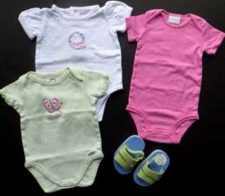 HUGE BABY GIRLS LOT NB 0 3 M SUMMER CLOTHES OUTFITS SHOES & SANDALS