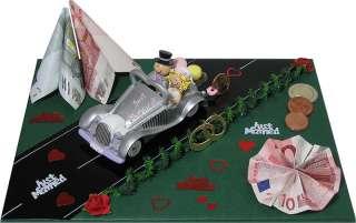 Geldgeschenke Hochzeit Auto mit Brautpaar Gastgeschenk