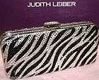 LEIBER CRYSTAL MINAUDIERE ZEBRA JEWEL HOBO CLUTCH BAG NWT $1995