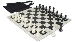 Value Club Tournament Chess Set Kit   Black
