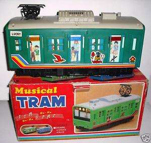 Vintage Musical Tram Train Plastic Toy Taiwan 70s?