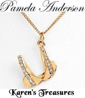 PAMELA ANDERSON NECKLACE Crystal Bra Charm Pendant NEW