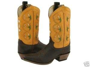 Justin Vintage Ladies Cowboy Boots L6302 brown & yellow